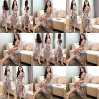 Floral Maxi Party Fashion Womens Long women's summer beach sundress Casual Dress