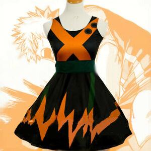 My Hero Boku no Hero Academia Katsuki Bakugo Dress Cosplay Costume Custom Made&
