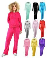 Womens Hoodie Plus Size Jogging Velour Top + Bottom Suit Pants Tracksuit Set