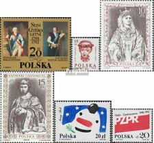Poland 3167,3168,3178,3179,3180,3182 used 1988 Sejm, HeAds, Rulers, YeAr u.A
