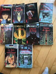 Presses pocket collection Terreur - Stephen King, Anne Rice- lot de 10
