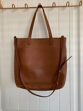 Madewell Medium Transport Tote English Saddle $158 With Extra Shoulder Strap $58