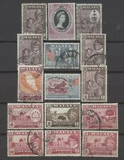 No: 74416 - MALAYA - LOT OF 15 OLD STAMPS - USED!!