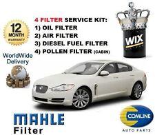 FOR JAGUAR XF 2.7TD 2008-2009 SERVICE SET OIL AIR FUEL POLLEN ( 4 ) FILTER KIT