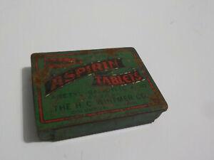 Vintage H.C. WHITMER Aspirin Tin Empty Columbus IN