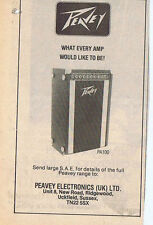 PEAVEY AMPS press clipping 1978 approx 9X14cm  (4/11/78)