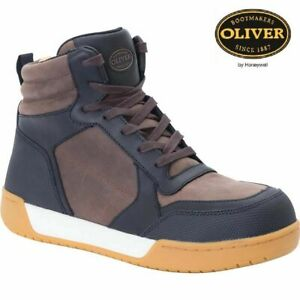Mens Leather Waterproof Safety Steel Toe Cap Work Ankle Hiker Boots Shoes Oliver