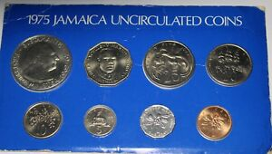 Jamaica 1975 8-Coin Gem Unc Mint Issued Set~RARE~4,683 Minted~FreeShipping
