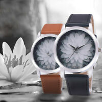 Fashion Women Leather Analog Quartz Vogue Wrist Watch Waterproof Sport Watches