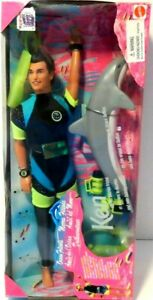 Mattel 1996 Barbie Doll Ocean Friends Ken and His Dolphin Friend NEW
