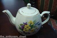Ellgreave Woods & Sons England Mid Century 32 oz. ironstone teapot ANTIQUE ORIGI