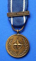 "NATO Yugoslavia miniature ribbon and bar ""In Service of Peace Freedom"" [YUG]"