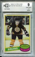 1980 OPC Hockey #140 Ray Bourque Rookie Card RC Beckett Graded BCCG 9 O-Pee-Chee