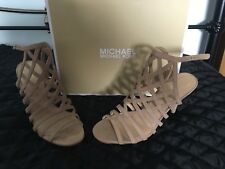 Michael Kors Cage Beige Suede Sandals, Size UK 8. Brand New And Never Worn