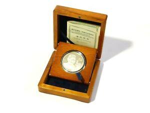 2004 Chinese Proof Silver 10 Yuan Coin Centenary Deng Xiaoping Plush Box #3091