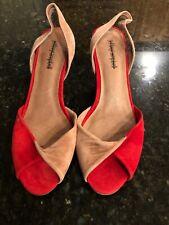 Jeffrey Campbell Red/Mauve  Nubuck Leather Sandals/Heels, Size 8, NWOB