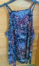 South floral strappy summer top, size 12