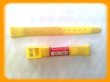 BRACELET MONTRE PVC JAUNE /* MADE IN SUISSE 12 mm /* REF.V50