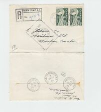 NORTH SYDNEY N.S. Registered cover 1965 Canada various cancels