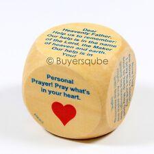 "Bedtime Prayer Cube (6 Prayers) Religious Item 1 5/8"" For Personal Night Prayer"