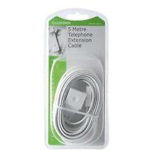 Lloytron A452 5m Home Office Telephone Line Socket Extension Lead Cable White