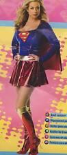 SUPERGIRL ADULT COSTUME Superman Sexy Women Small Medium (6-10) Action Hero NEW
