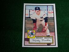 MICKEY MANTLE  (NEW YORK YANKEES-OF)  2006 TOPPS ROOKIE REPRINT CARD #25/25 MINT