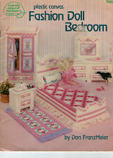 Cute Fashion Doll Bedroom in Plastic Canvas for Barbie Dolls
