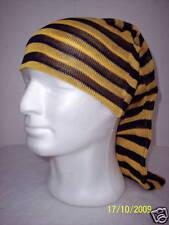 Cappello Tubolare/Hat Tube Rigato GIALLO-BLEU 100% Cotone Makò