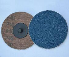 """25 3"""" New Sandpaper Sanding Disc TR Roloc Zirc 120G"""