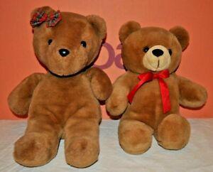 2x Teddy Bear Soft Toys Job Lot Bundle Brown Bears