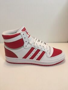 Adidas Top Ten RB High Sneakers White Red Mens Size 11.5 FV4925