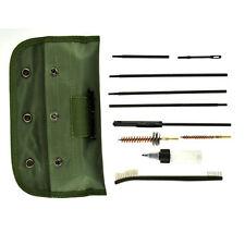 10Pcs .22 22LR .223 556 Rifle Gun Cleaning Kit Set Cleaning Rod Brush Nylon Bag