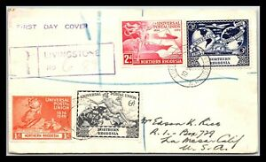 GP GOLDPATH: NORTHERN RHODESIA COVER 1949 REGISTERED LETTER F.D.C. _CV757_P13
