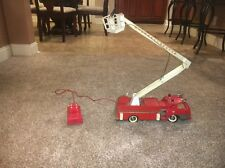 Vintage 1960'S Sears Snorkel Rescue Fire Truck Early Remote Control Red Ladder