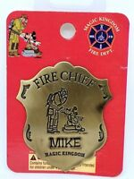 Disney Magic Kingdom Fireman & Mickey Mouse Fire Chief Badge /Pin For MIKE