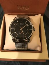ESQ By Movado ES.46.1.14.5646 Stainless Steel / Black Dial Swiss Movement Watch