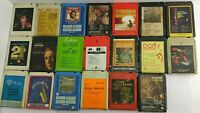 VTG 8 Track Tape Collection 20 Pc MIXED LOT Untested Uncleaned Elvis (7A1) L2