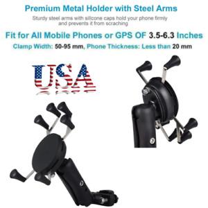 RAM Motorcycle Bike Handlebar Rail Mount X-Grip Mobile Phone GPS Holder