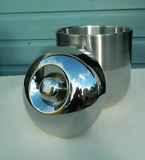 Stainless Steel Ice Bucket Brushed and Polished Design (Double Skin)