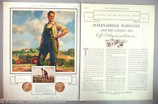 International Harvester Tractor 2-Page PRINT AD - 1931 ~Centennial,Philip Lyford
