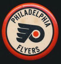 "1968 Expansion Era 3-1/2"" Hockey Pinback -PHILADELPHIA FLYERS *Tough*"