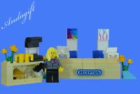LEGO reception desk office hotel doctor hospital station school minfigure