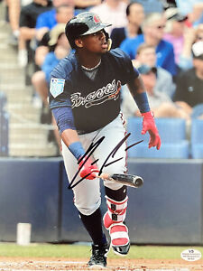 Ronald Acuna Jr IMPERFECT signed autographed 8x10 Photo W/ COA