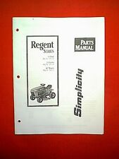 "Simplicity Regent Series Tractor 12 Gear & 12 Hydro With 36"" Mower Parts Manual"