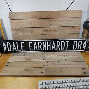 DALE EARNHARDT RCR NASCAR Vintage HEAVY Metal Street Sign 3 DALE EARNHARDT DR