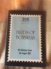 More details for botswana 1982 birds definitive stamps in presentation folder um & fdc ref b5