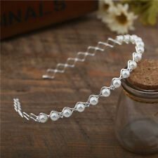 Fashion Women Crystal Pearl Headwear Headband Head Piece Hair Band Girl