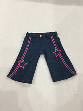"Star Denim Capri Pants Fits 18"" American Girl Doll Clothes Top Faux Pockets"