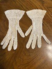 Vintage Crochet Gloves For Women - Small Size